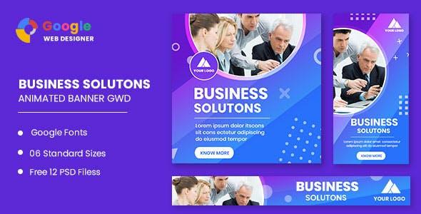 Business Solution Animated Banner Google Web Designer