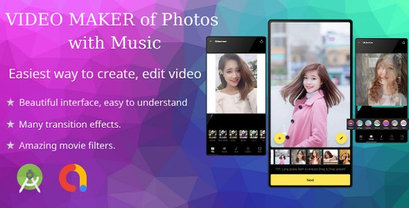 Video Maker with song - Slide show video
