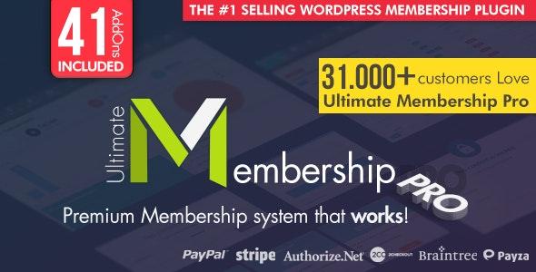 Ultimate Membership Pro - WordPress Membership Plugin - CodeCanyon Item for Sale