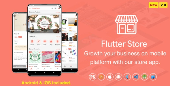 Flutter Store ( Ecommerce Mobile App for iOS & Android with same backend ) 2.0 - CodeCanyon Item for Sale