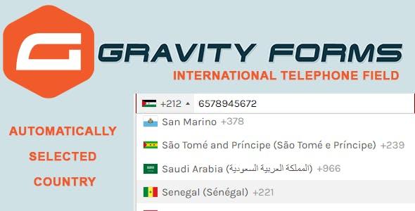 Gravity Forms International Telephone Field