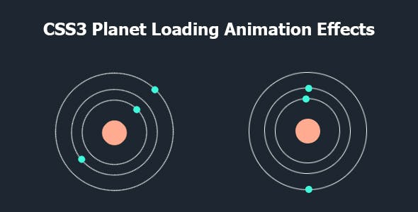 CSS3 Planet Loading Animation Effects