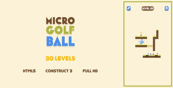 Micro Golf Ball - HTML5 Game (Construct3) - CodeCanyon Item for Sale