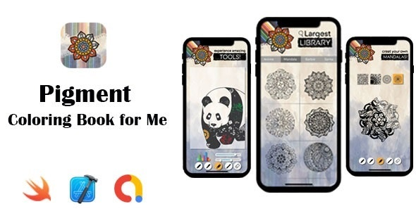 Pigment – Coloring Book for Me   Google AdMob   In App Purchase   iOS Source Code - CodeCanyon Item for Sale