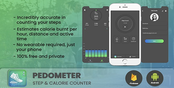 Android App Pedometer :-Step Counter & calorie tracker App - CodeCanyon Item for Sale