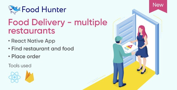 Food Delivery Mobile App React Native - Multi Restaurants - Food Hunter - CodeCanyon Item for Sale