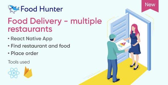 Food Delivery Mobile App React Native - Multi Restaurants - Food Hunter
