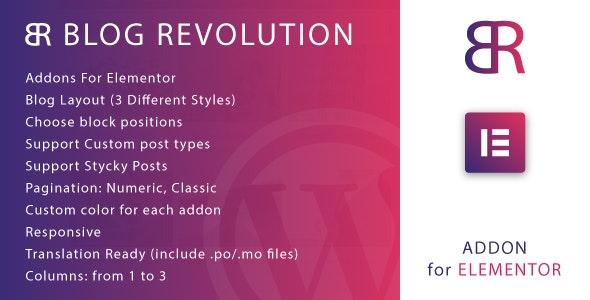 Blog Revolution for Elementor WordPress Plugin v1.0