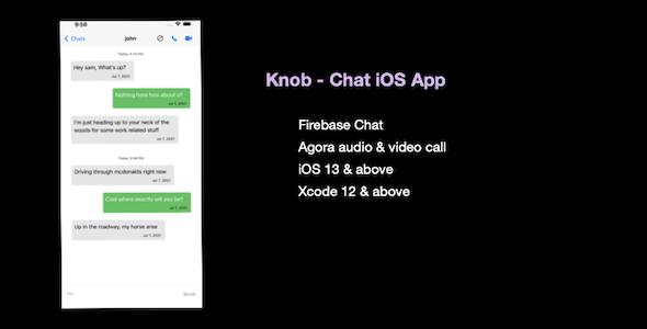 Knob Chat - iOS