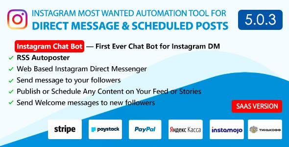 DM Pilot — Instagram Chat Bot, Web Direct Messenger & Scheduled Posts