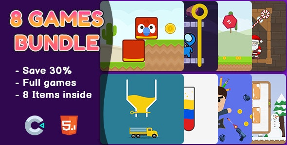 8 Games Bundle #1 - HTML5 Games | Construct 2 & 3 - CodeCanyon Item for Sale