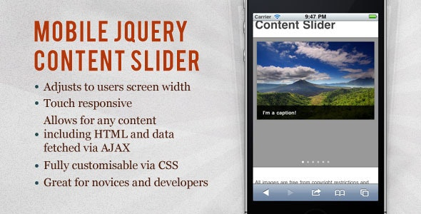 Mobile jQuery Content Slider - CodeCanyon Item for Sale