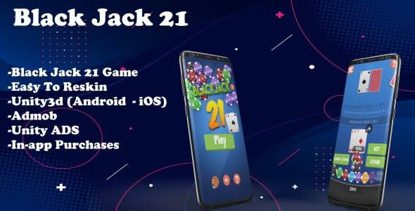 Black jack 21 - Unity Source Code