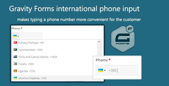 Gravity Forms international phone input