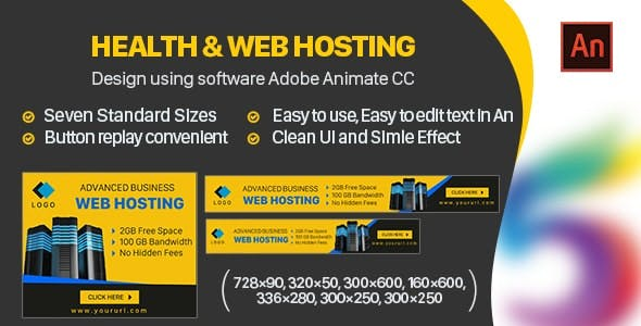 Hosting Website Banners HTML5 - Animate CC