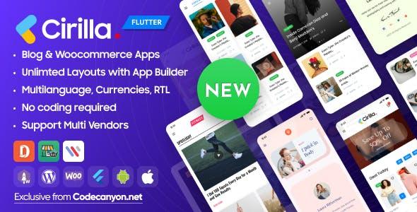 Cirilla - Multipurpose Flutter App For Wordpress & Woocommerce