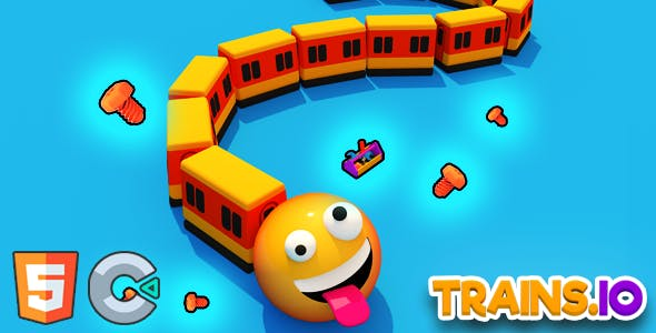 Trains.io 3D - (HTML5 Game - Construct 3)
