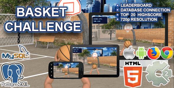 Basket Challenge ( HTML5 + Database Connection)