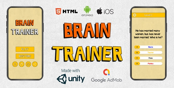 Offline Quiz Brain Trainer | Android, iOS, Html - CodeCanyon Item for Sale