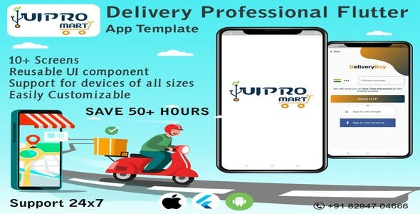 Delivery Professional - Flutter App UI Template