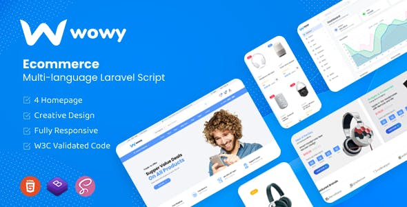 Wowy - Multi-language Laravel eCommerce Script