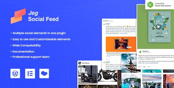 Jeg Social Feed for WordPress Widget Shortcode & Add Ons for Elementor & WPBakery Page Builder