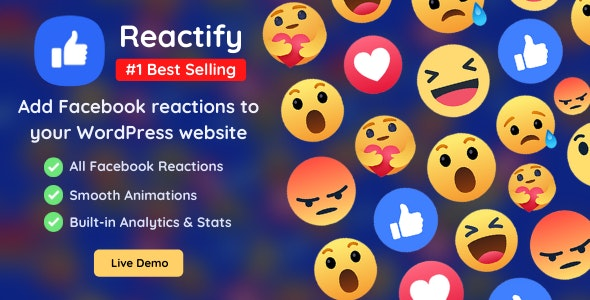 Reactify - Facebook Reactions For WordPress - CodeCanyon Item for Sale