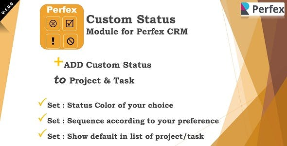 Add-on Statuses Module for Perfex CRM