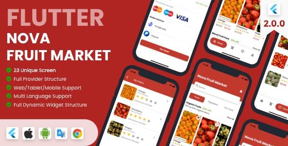 Flutter Fruit Market Flutter