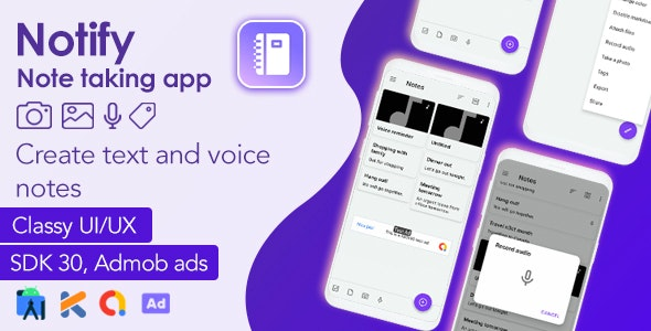 Notify - Android Note-taking App + Admob Ads - CodeCanyon Item for Sale