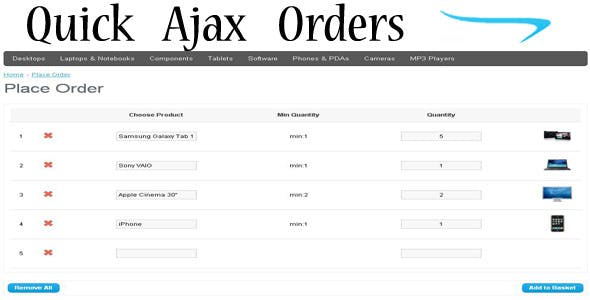 Quick Ajax Orders
