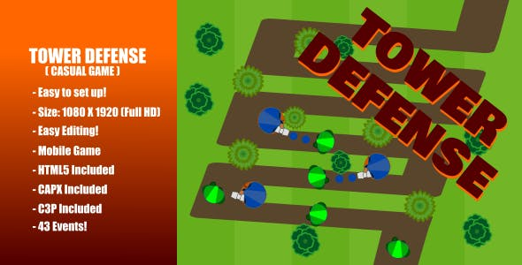 Tower Defense | Construct 2 (capx) | Construct 3 (c3p)