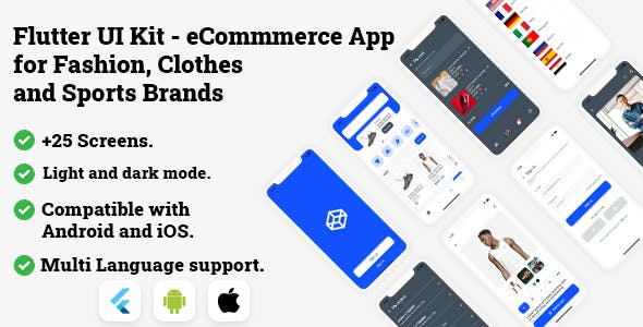 Flutter UI Kit - eCommmerce App for Fashion, Clothes and Sports Brands