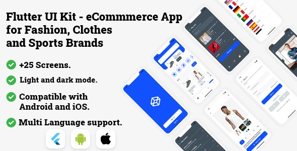 Flutter UI Kit - eCommmerce App for Fashion, Clothes and Sports Brands - CodeCanyon Item for Sale
