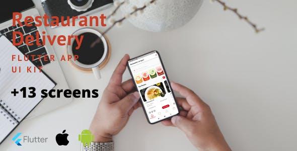 Restaurant Delivery Flutter App UI Kit
