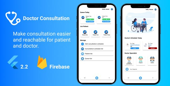 Booking Doctor Consultation - Flutter with Firebase