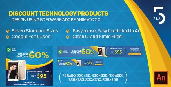 Discount Technology Products HTML5 Banner Ads - Animate CC