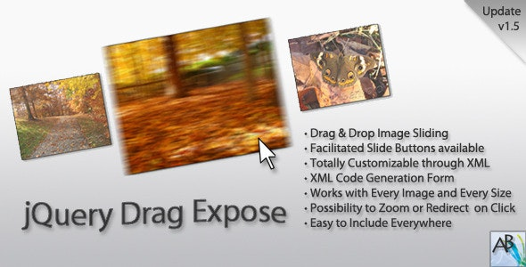 jQuery Drag Expose | Draggable Image Gallery - CodeCanyon Item for Sale