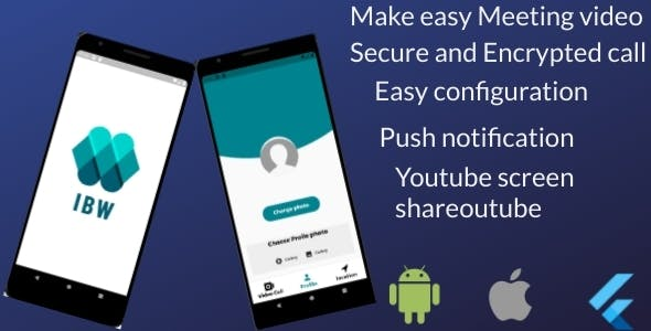 IBW-Meet - Flutter Video Conference And Meeting App  for Android And iOS