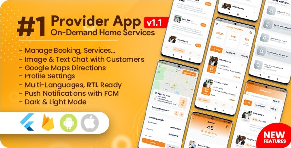 Service Provider App for On-Demand Home Services Complete Solution v1.1.6