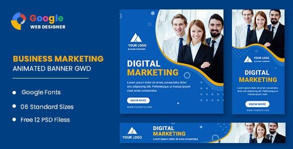 Business Marketing Animated Banner Google Web Designer