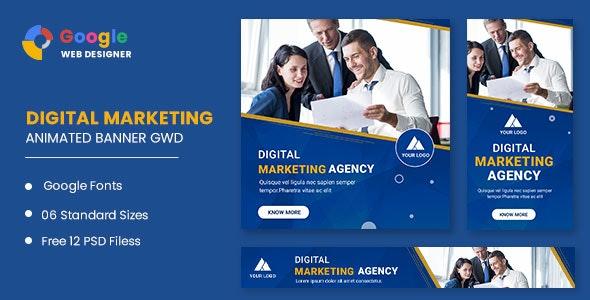 Digital Marketing Animated Banner Google Web Designer - CodeCanyon Item for Sale