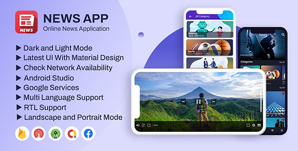 News App Pro | (Video, YouTube, Text, Live Tv News) - CodeCanyon Item for Sale