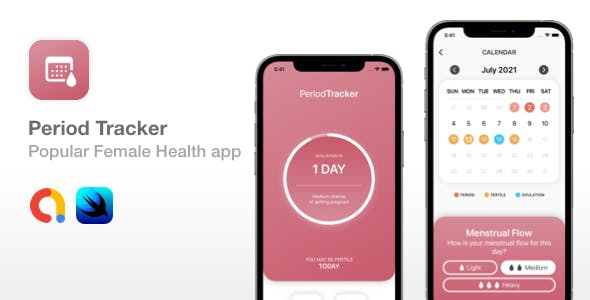 Period Tracker - Popular SwiftUI Female Health app