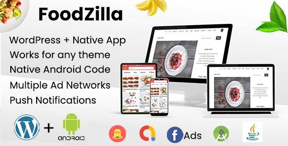 FoodZilla - WordPress+Android App   Recipes App with WordPress backend
