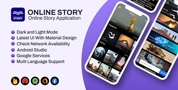 Story App Android   (Short Little Story, Blog Publishing Application)