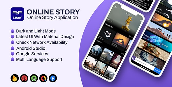 Story App Android   (Short Little Story, Blog Publishing Application) - CodeCanyon Item for Sale