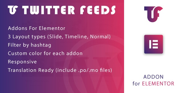Twitter Feeds for Elementor v1.0 – WordPress Plugin
