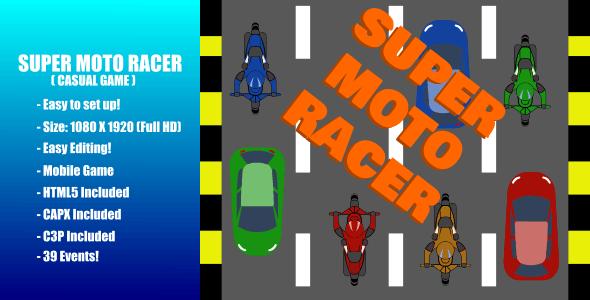 Super Moto Racer | Construct 3 | C3P