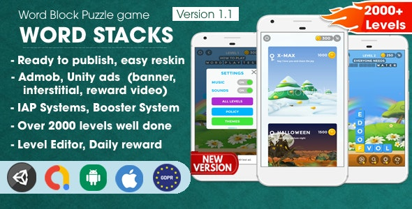 Word Stacks - Unity Template Project - CodeCanyon Item for Sale